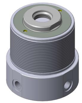 Cilindri foro passante filettato esterno filettato - doppio effetto Pressione max di esercizio 350 bar Threaded clearance bore cylinder threaded outside dual action Max working pressure 350 bar