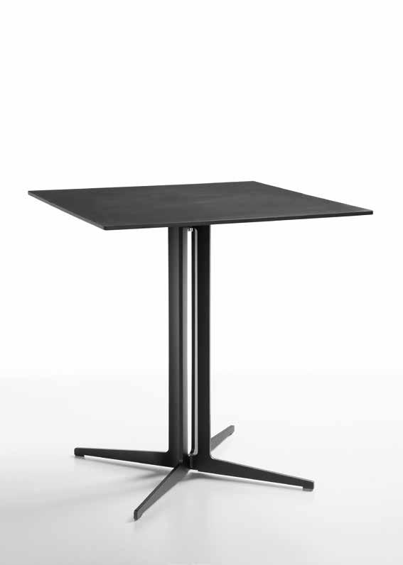 Design Studio Balutto associati.01.01 SINTESY basamento bistrot acciaio nero, HPL LS4. SINTESY bistro base black steel, LS4 HPL top.