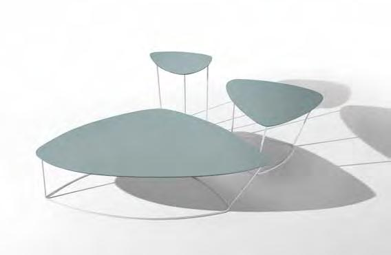 .02.03.02.03.02 GUAPA CTS, CTM, CTL coffee table acciao bianco, cuoio U05 GUAPA CTS, CTM, CTL white lacquered steel, U05 hide.