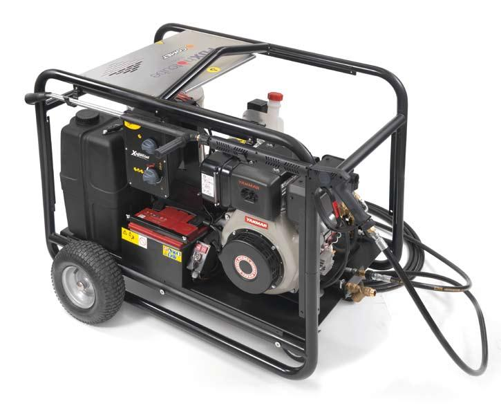 X SPECIAL FDX Hot Cube 1560 52 GENERAL FEATURES Honda GX series engine (petrol models) or Yanmar L100N engine (Diesel model) Electrical starting-up No engine-oil safety device (oil-alert) Automatic