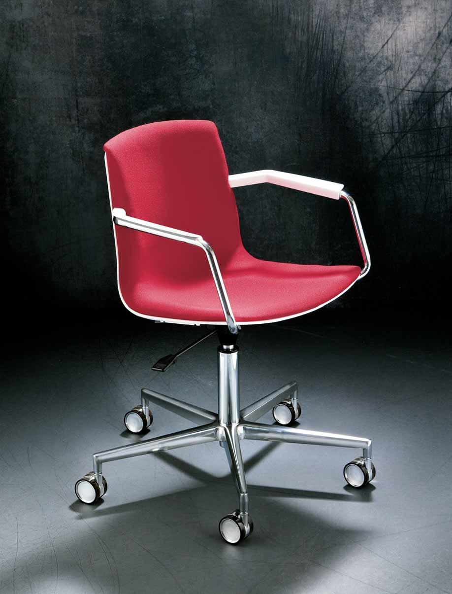 metallo cromato / Swivel chair with armrests,