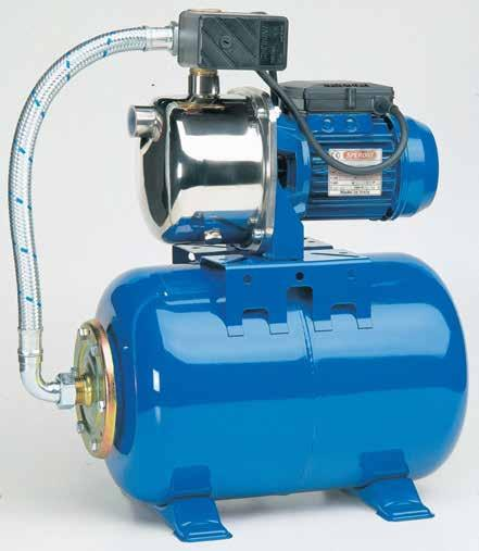 idrici domestici. APPLICATION Automatic high groups coupled with selfpriming jet pumps.