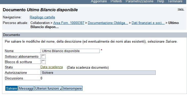 Cliccare su Data scadenza all interno del documento ; Cliccare su Data