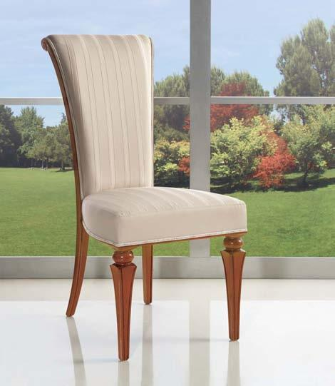 108 articolo 3011 sedia con fondino imbottito e schienale traforato chair with upholstered seat and perforated back cm. l. 47 - p. 46 - h.