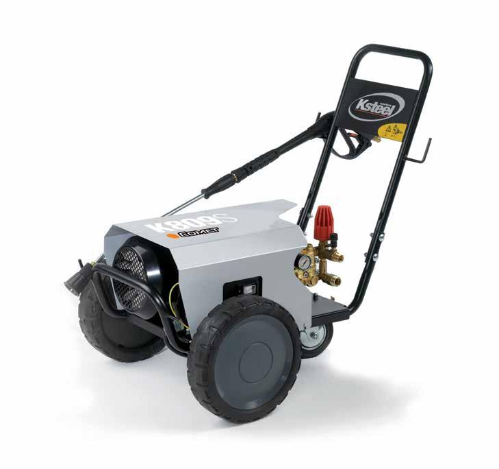 K STEEL K 803-805 - 807-809 S 2800 30 GENERAL FEATURES Heavy duty structure with painted steel cover Handy and secure hose reel housing (when applicable) on top of the