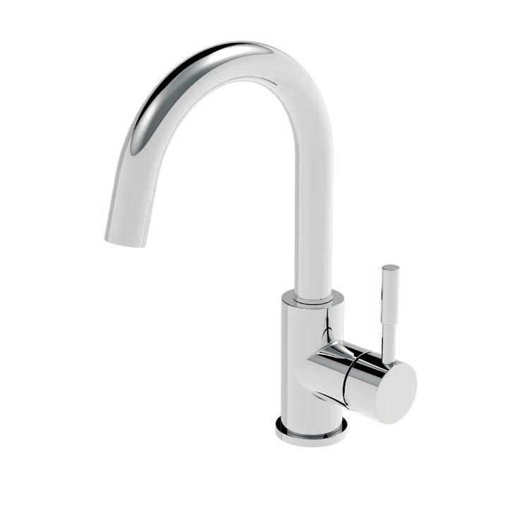 LAVABO CANNA ALTA SENZA SCARICO SIDE LEVER LAVATORY FAUCET WITH TALL SPOUT, WITHOUT