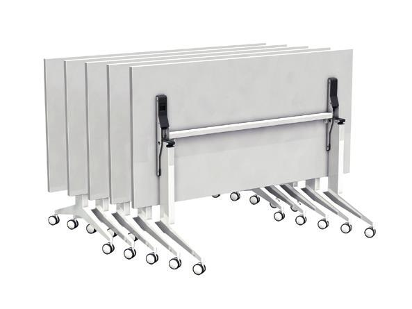Single locking device, which allows one single user to move tables of large dimensions.