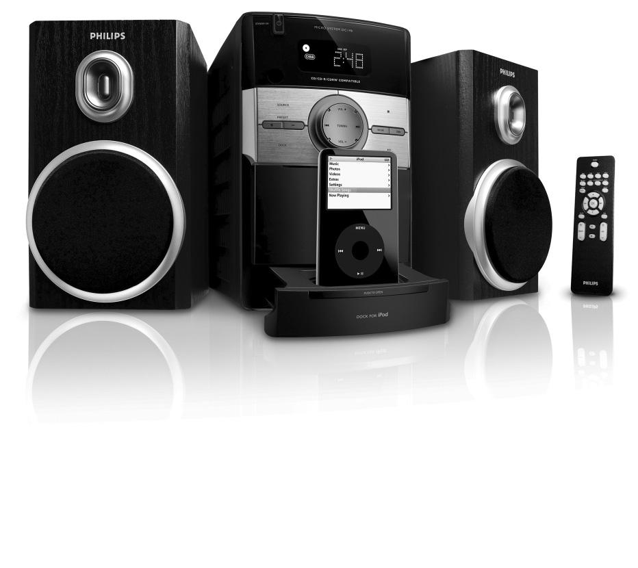 Micro Hi-Fi System DC146 Register your product and get support at www.philips.