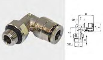 Raccordi girevoli a L con O-ring interno Per tubi Ø esterno Filetto gas maschio 1760028000 6630-4 2 4 1/8 1760028010