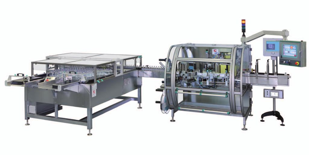 Optionals / Dispositivi opzionali Special machine configuration by motorized bi-flow linear feeding table.