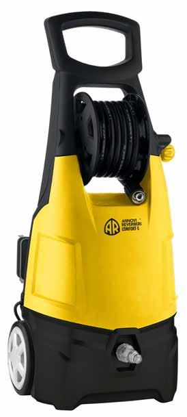 High Pressure Washers COMFORT-S Acqua fredda Cold water Per uso saltuario For occasional usage Attacco connessione rapida Quick connection Carrello a 2 ruote con manico Pompa a 3 pistoni assiali