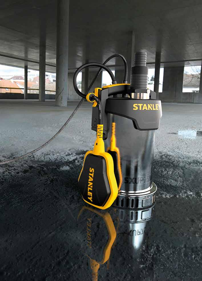 MADE TO LAST STANLEY offers a complete range of submersible water pumps: robust, built to last and suitable for pumping dirty