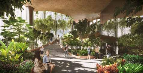 ECONOMIA IMMOBILIARE N 55 61 oases are connected by a spiraling botanical promenade that creates multiple viewpoints of the vertical park within and the Singapore landscape outside.