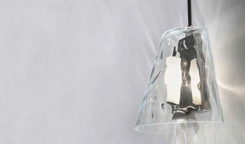 amethyst or clear. Inner frosted glass diffuser.