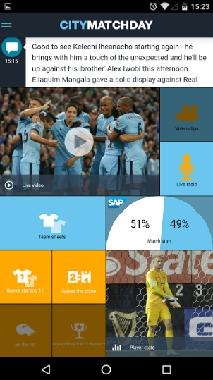 MANCHESTER CITY FOOTBALL CLUB APP