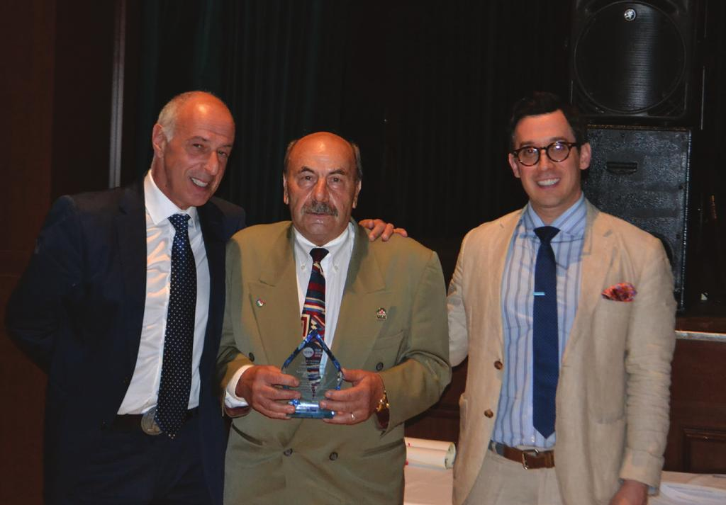 2017 AWARDS HALL OF FAME Sergio Zanatta was inducted into Il Centro s Hall of Fame this year at Festa