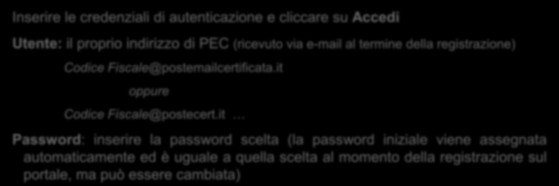 it oppure Codice Fiscale@postecert.