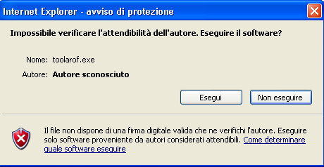 Sul computer comparirà la finestra del download.