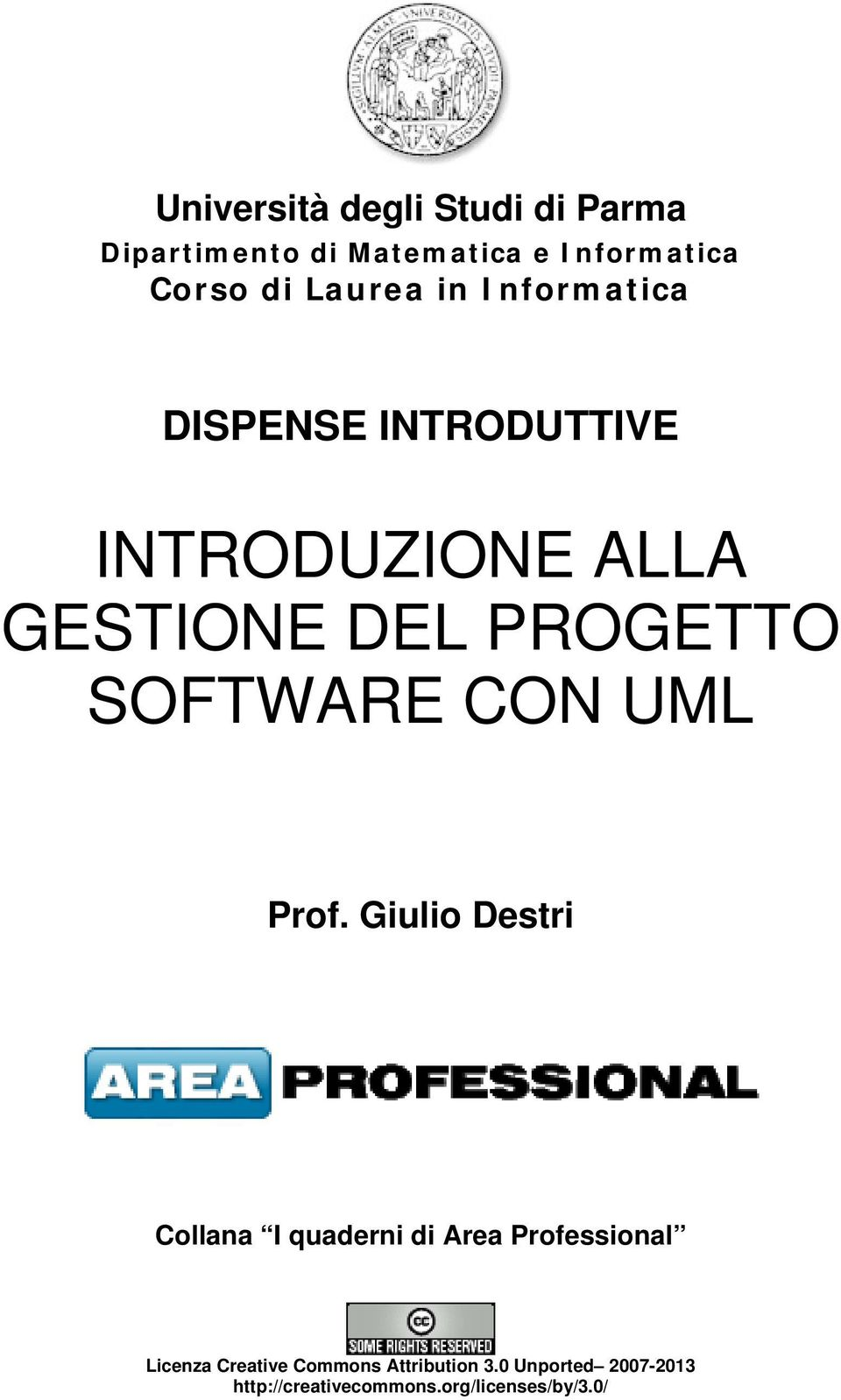 SOFTWARE CON UML Prof.