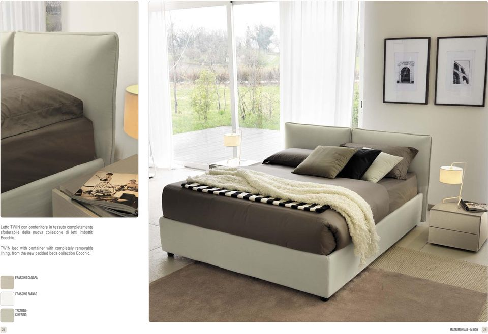 TWIN bed with container with completely removable lining, from the new