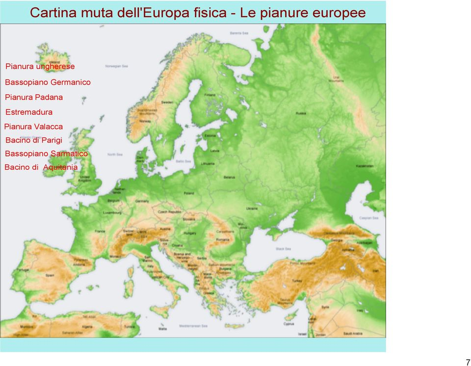 Cartina Muta Bacino Mediterraneo.Geografia Classe Seconda Cartine Mute E Sovrascritte Dell Europa Pdf Free Download