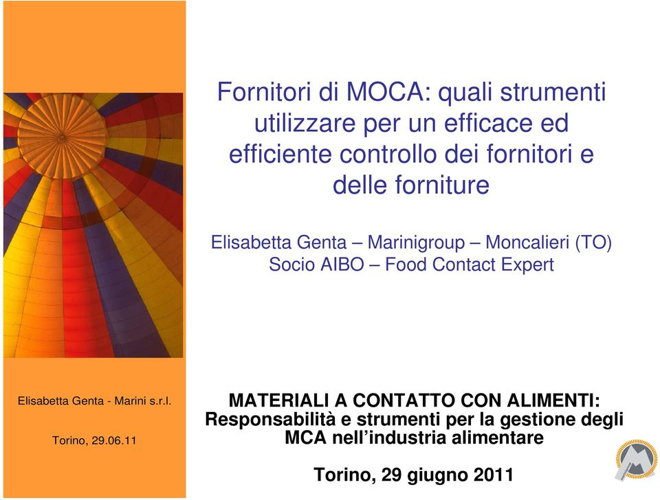 (TO) Socio AIBO Food Contact Expert MATERIALI A CONTATTO CON ALIMENTI: