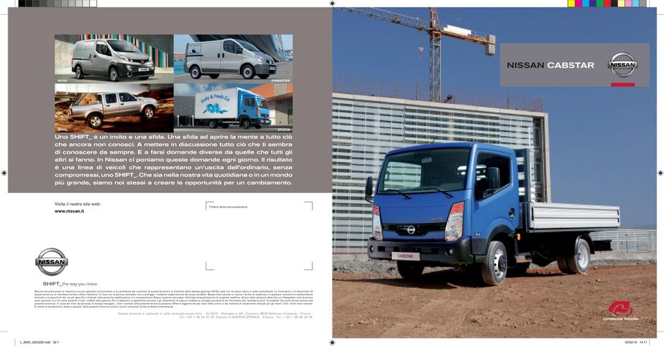 Schema Elettrico Nissan Cabstar : Nissan cabstar shift the way you move visita il nostro sito web