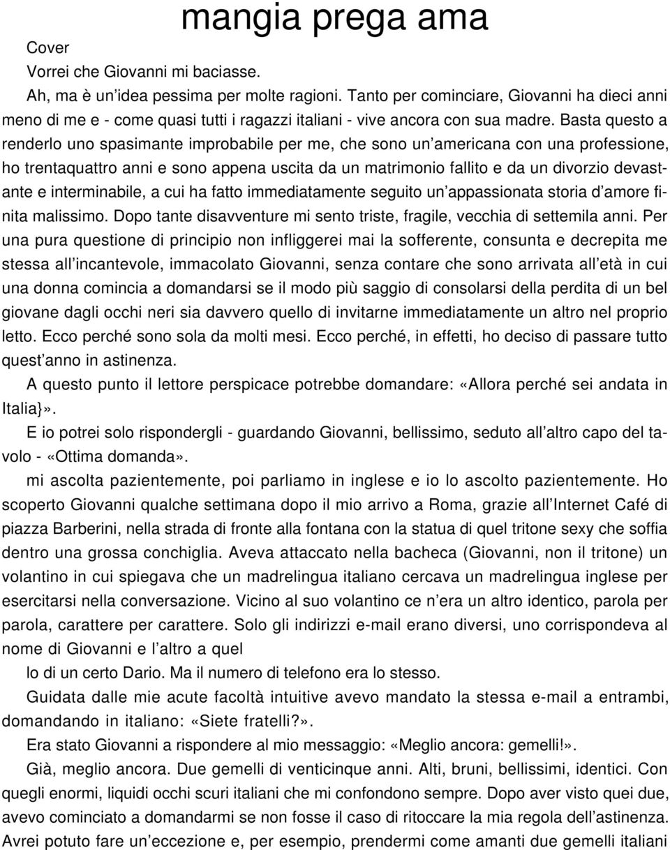 Mangia Prega Ama Cover Pdf Free Download