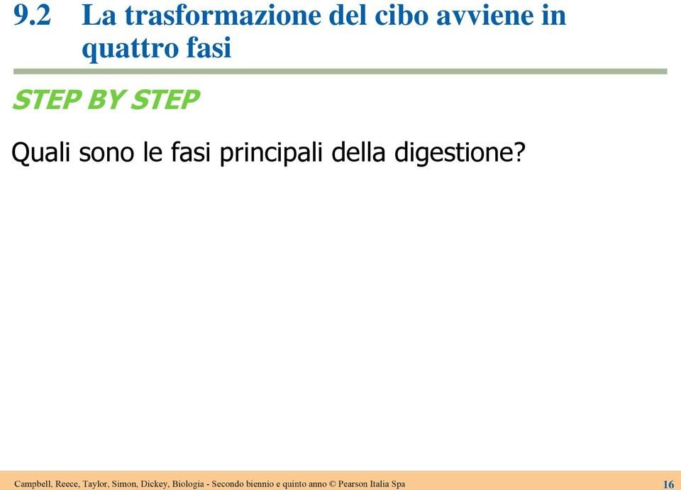 STEP BY STEP Quali sono le