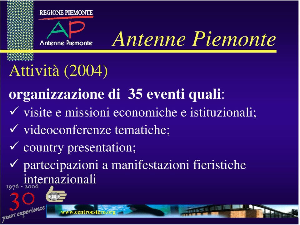 videoconferenze tematiche; country presentation;