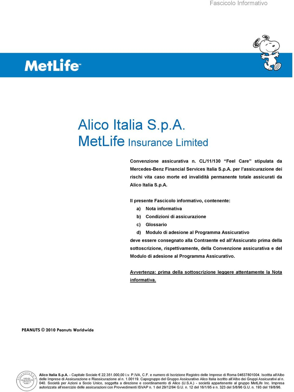 alico italia s.p.a. metlife insurance limited - pdf