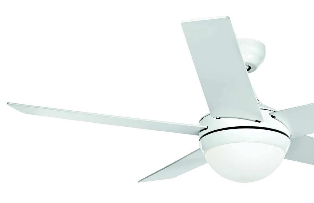 VENTILATORI PADDLE FAN 7564 CR e E14 2 x 28W max Ø 1320 mm CHLOE Ventilatore a soffitto a cinque pale in legno verniciato