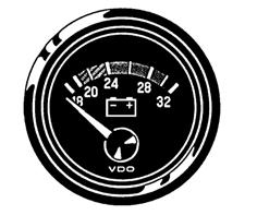 VDO-Viewline livello di riempimento indicatore carburante ø52mm 0-1//1 8-32v 3-180 OHM NERO O